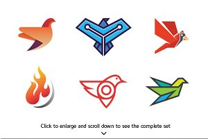 6 Best Bird Logo Bundle