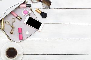 Mock up.Women's accessories