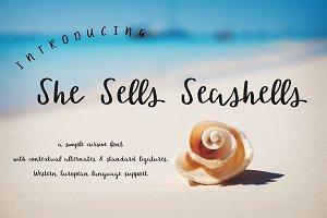 She Sells Seashells Cursive Font