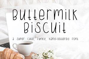 Buttermilk Biscuit Sans Font