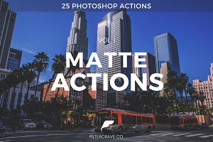 Matte Photoshop Actions I