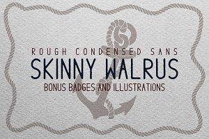 Skinny Walrus - Vintage Font + Logos