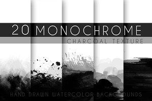 20 monochrome charcoal texture