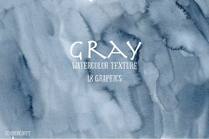 Watercolor Texture Grey