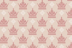 crown seamless pattern