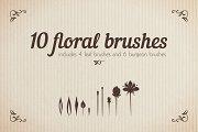 Floral Brushes Illustrator Set