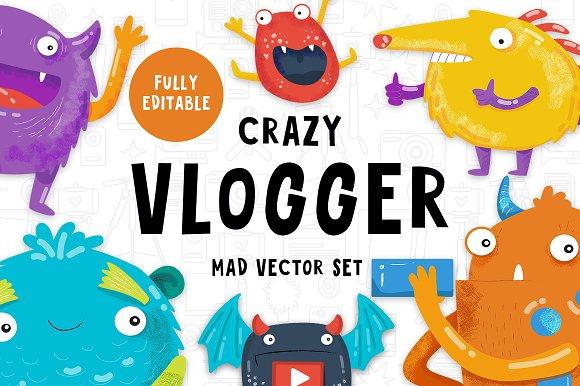 The Crazy Vlogger YouTube Set