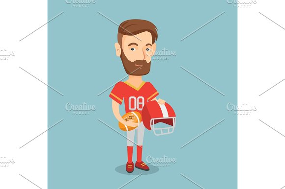 Rugby Player Vector Illustration