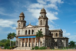Ruins of old cathedral in Managua