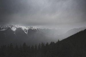 Foggy Evening in Banff Alberta