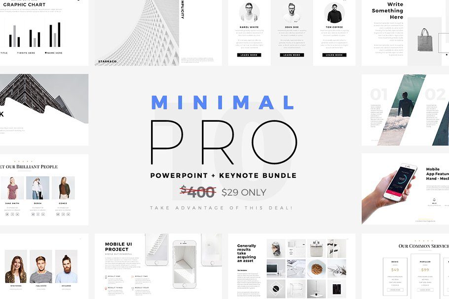 Minimal PRO Presentations Bundle ~ Keynote Templates