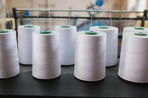 Paper yarn for printing in a machine