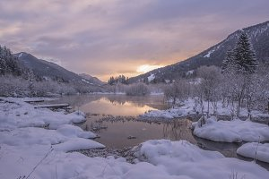 Purple Sunrise at spring of Zelenci