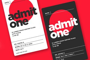 Event Ticket Admit Card Design
