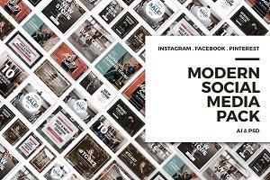 Modern Social Media Pack | 50% off!