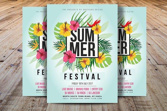 summer flyer template flyer templates creative market