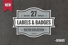 27 Vintage Vector Logos & Badges