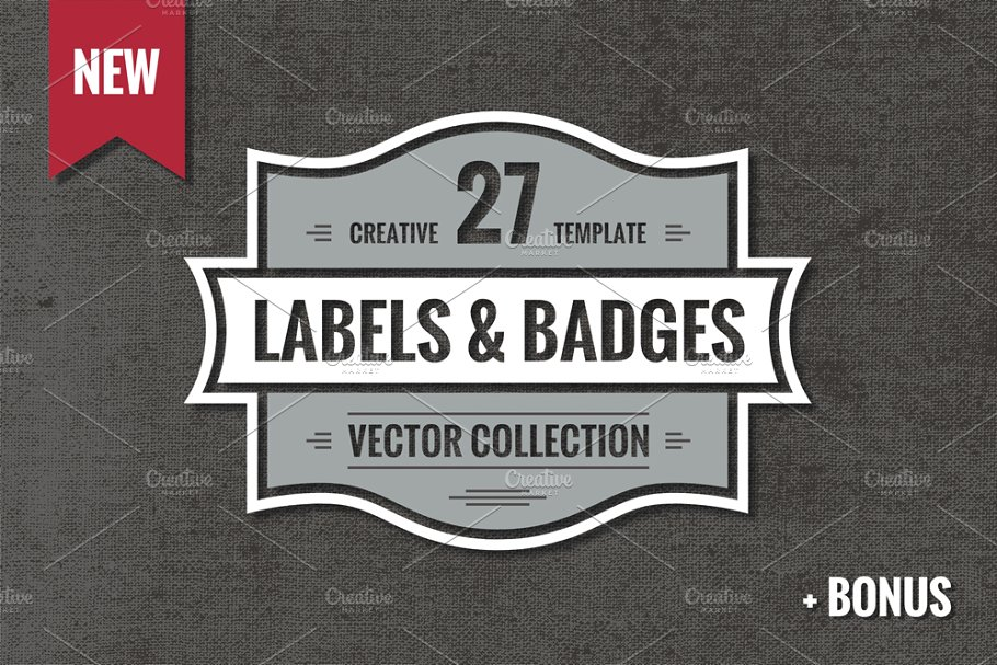 27 Vintage Vector Logos & Badges