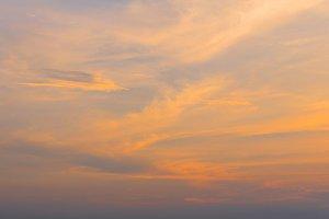 golden sky at the sunrise