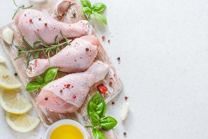 Raw chicken drumstick