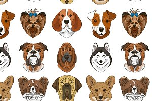 illustration of different dogs breed