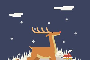 Deer Rudolph Winter