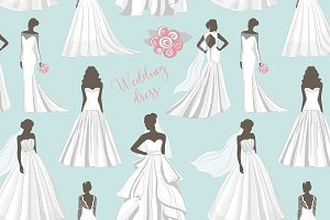 Wedding dress set pattern