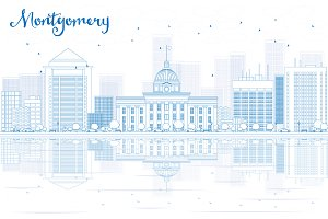 Outline Montgomery skyline