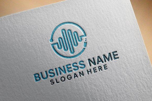 Music Vibe Technology Logo Designs