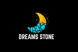 Dreams Stone Concept Logo Template