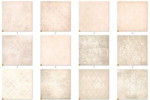 Ivory Distressed Damask Textures