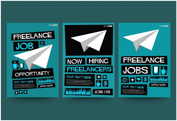 Freelance Job Hiring Poster Template