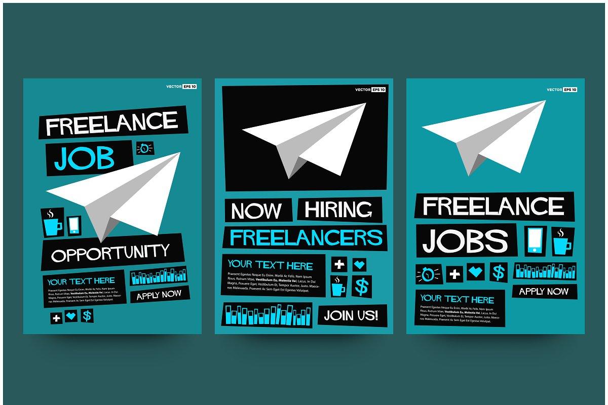 Freelance Job Hiring Poster Template