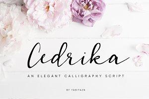 Cedrika script font