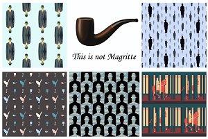 Patterns after Rene Magritte