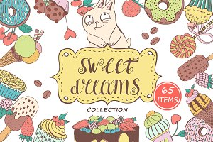 Sweet dreams - Clipart & Patterns
