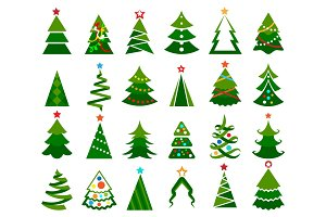 Christmas tree color set