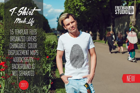Download Men's T-Shirt Mock-Up Vol.4 2017