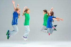 The kids dance school, ballet, hiphop, street, funky and modern dancers