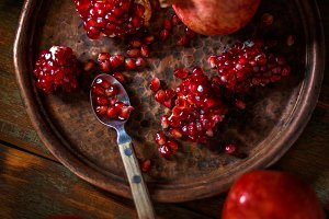 Red juicy pomegranate