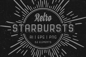 Retro starbursts Vol. 1 - Set of 63