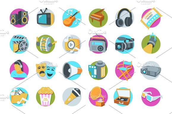 41 Multimedia Icons