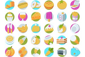 112 Food Perspective Icons