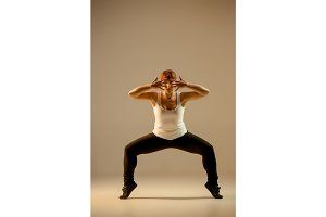 The women dancing hip hop choreography