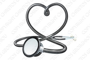 Heart Stethoscope Concept