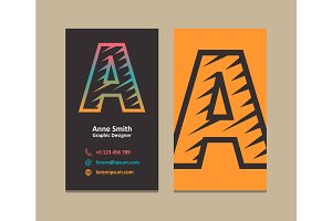 Letter A Logo Business card