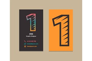 Number 1 Logo Business card