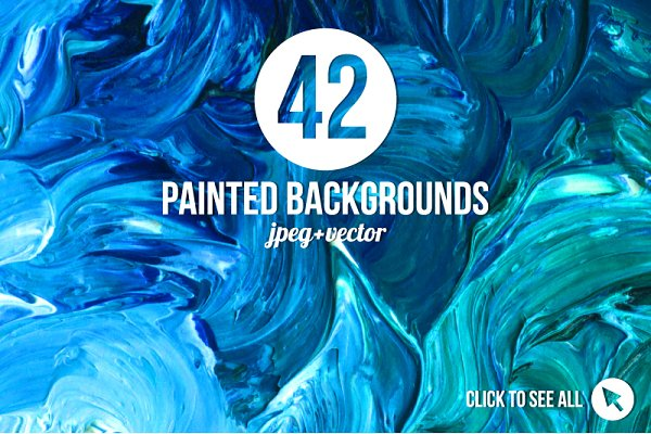 42 Magic Painted Backgrounds