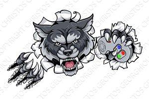 Wolf Animal Esports Gamer Mascot