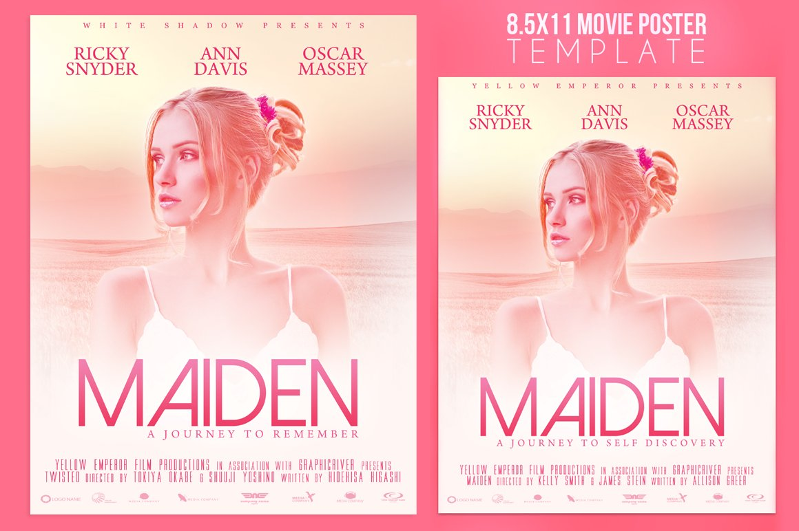 8.5x11 Movie Poster Template